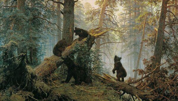 Jutro u borovoj šumi, jedno od najpoznatjih dela Ivana Šiškina. Slika je reprodukovana na mnogim predmetima, pa i na čuvenim čokoladicama kompanije Crveni oktobar - Sputnik Srbija