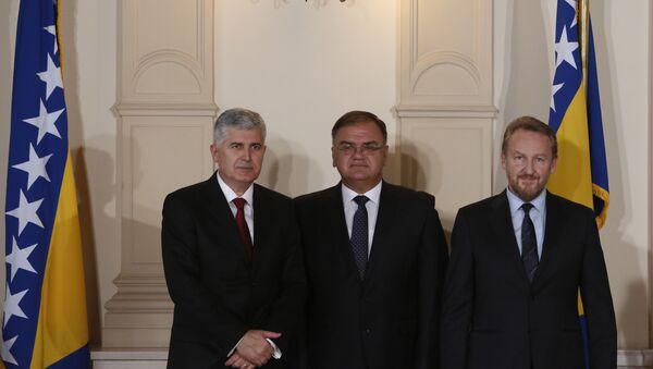 Dragan Čović, Mladen Ivanić i Bakir Izetbegović, - Sputnik Srbija