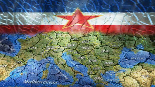 Jugoslavija zastava i Evropa - Sputnik Srbija
