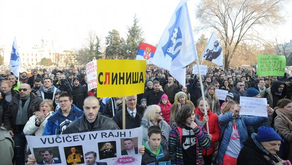 Protest Ne davimo Beograd - Sputnik Srbija