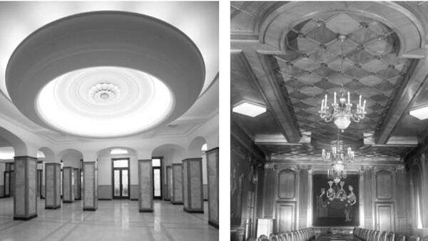 Хол Новог двора на Анрдићевом венцу и трпезарија - Sputnik Србија