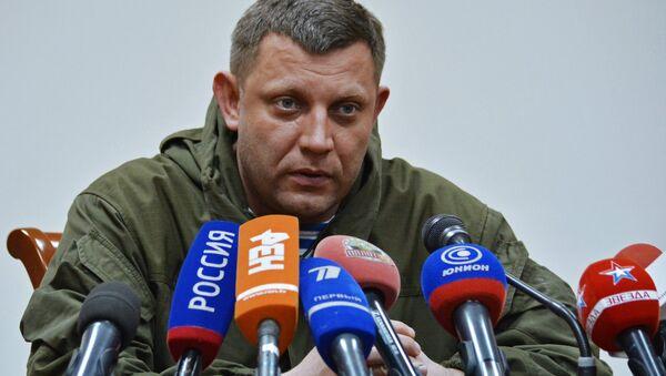 Lider DNR Aleksandar Zaharčenko na konferenciji za medije u Donjecku - Sputnik Srbija
