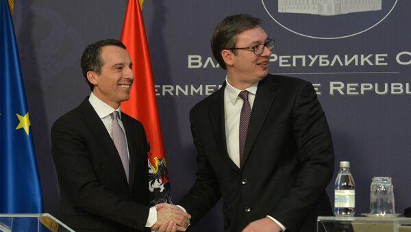 Кристијан Керн и Александар Вучић - Sputnik Србија
