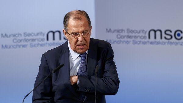 Ministar spoljnih poslova Rusije Sergej Lavrov na Bezbednosnoj konferenciji u Minhenu - Sputnik Srbija