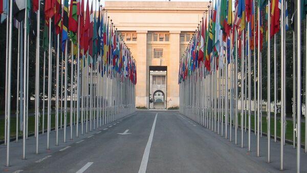 Zastave UN u Ženevi - Sputnik Srbija