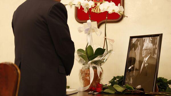 Портрет Виталија Чуркина у просторијама сталне мисије Русије у Уједињеним нацијама у Њујорку - Sputnik Србија