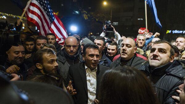 Лидер македонске опозиције Зоран Заев међу присталицама у Скопљу - Sputnik Србија