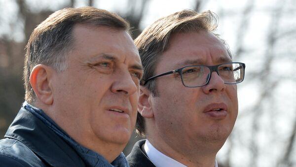 Milorad Dodik i Aleksandar Vučić - Sputnik Srbija