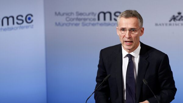 Generalni sekretar NATO-a Jens Stoltenberg govori na 53. Minhenskoj konferenciji o bezbednosti - Sputnik Srbija