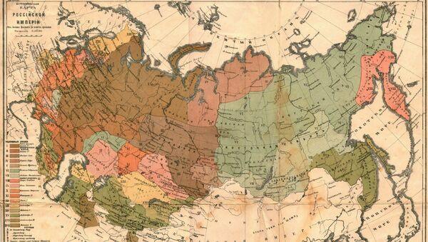 Karta Ruske imperije - Sputnik Srbija