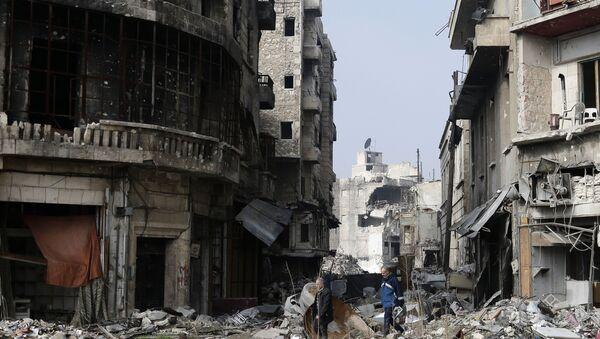 Рушевине у Алепу, Сирија - Sputnik Србија