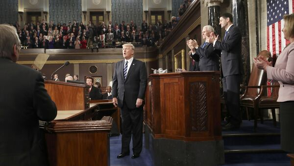Председник САД Доналд Трамп обраћа се Конгресу - Sputnik Србија