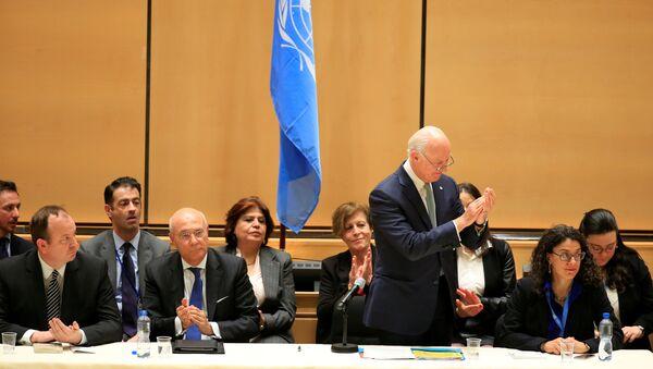 Specijalni izaslanik UN za Siriju Stafan de Mistura na međusirijskim pregovorima u Ženevi - Sputnik Srbija