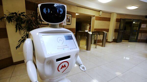 Робот Метроша у централној канцеларији московског метроа на станици Проспект мира - Sputnik Србија