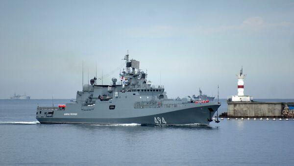Главни патролни брод Црноморске флоте фрегата Адмирал Григорович - Sputnik Србија