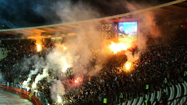 Navijači na utakmici Crvena zvezda - Partizan - Sputnik Srbija