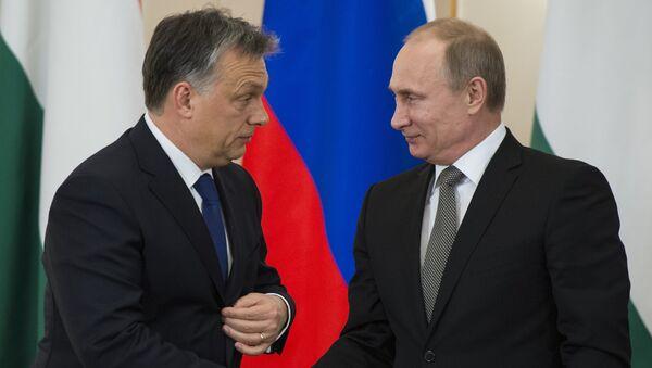Састанак Владимир Путин и Виктор Орбан - Sputnik Србија