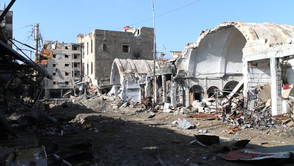 Uništene zgrade u istočnom sirijskom gradu Dejr el Zor - Sputnik Srbija