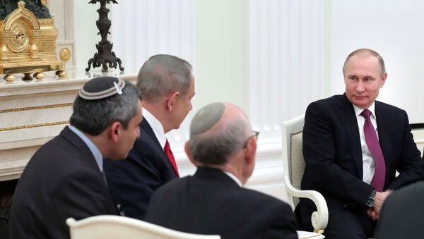 Председник Русије Владимир Путин и премијер Израела Бењамин Нетанијаху - Sputnik Србија