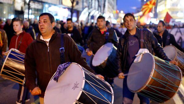 Protest Građanske inicijative Za zajedničku Makedoniju - Sputnik Srbija
