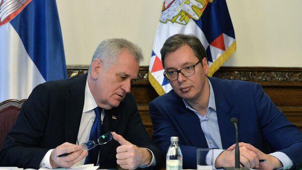 Председник Србије Томислав Николић и премијер Александар Вучић - Sputnik Србија