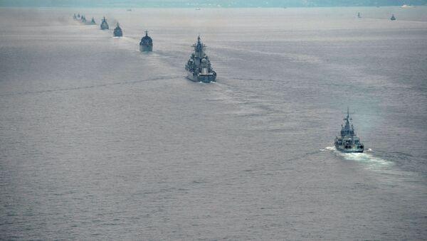 Brodovi Pacifičke flote Rusije tokom vežbi u Istočnom vojnom okrugu - Sputnik Srbija