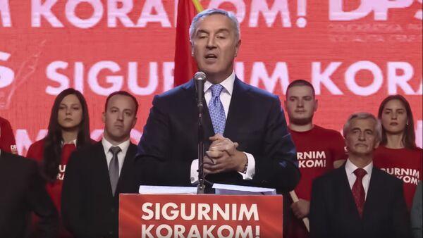 Milo Đukanović na mitingu DPS-a u Nikšiću - Sputnik Srbija