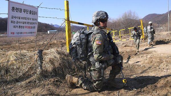Амерички војник на вежбама у Јужној Кореји - Sputnik Србија