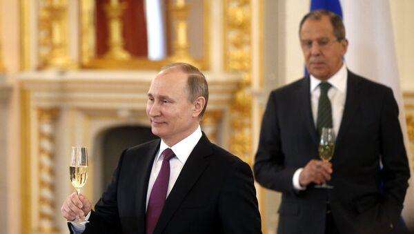 Predsednik RF Vladimir Putin i ministar spoljnih poslova Rusije Sergej Lavrov - Sputnik Srbija
