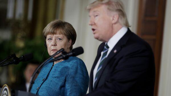Anegla Merkel i Donald Tramp - Sputnik Srbija
