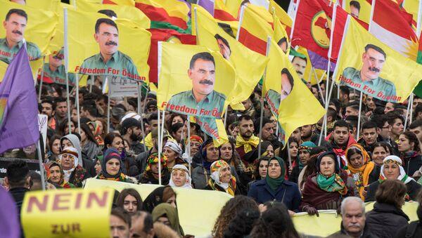 Protest Kurda u Frankfurtu - Sputnik Srbija