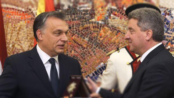 Premijer Mađarske Viktor Orban i predsednik Makedonije Đorđe Ivanov - Sputnik Srbija