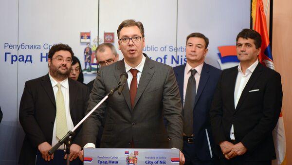 Александар Вучић у Нишу - Sputnik Србија