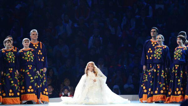 Певачица Јулија Самојлова на церемонији отварања Зимских параолимпијских игара у Сочију - Sputnik Србија