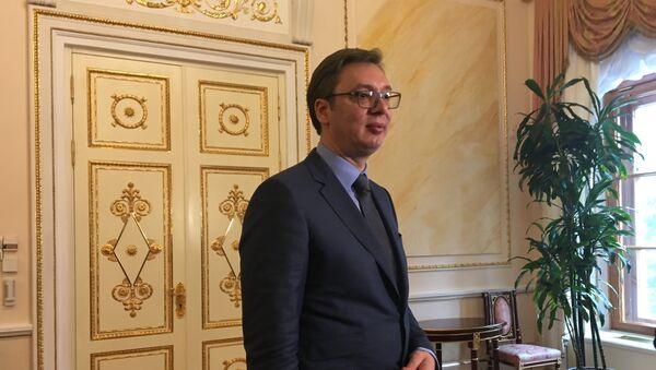 Александар Вучић у Кремљу - Sputnik Србија