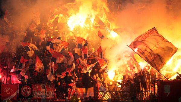 Navijači na prijateljskoj utakmici Crvena Zvezda - Spartak - Sputnik Srbija