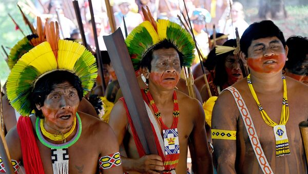 Припадници племена Кајапо у Бразилу - Sputnik Србија