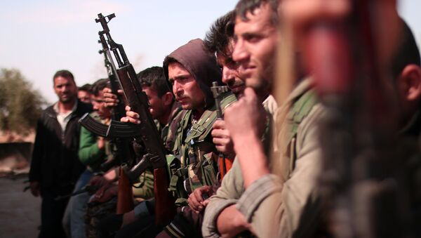 Демократске снаге Сирије у близини Раке у Сирији - Sputnik Србија