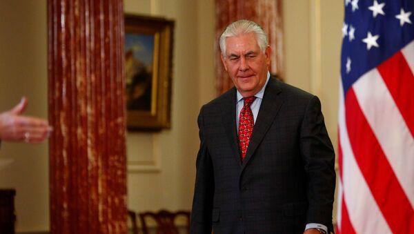 Američki državni sekretar Reks Tilerson u Stejt departmentu u Vašingtonu - Sputnik Srbija