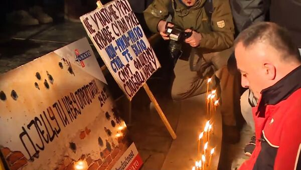 Anti-NATO protest u Podgorci - arhivska fotografija - Sputnik Srbija