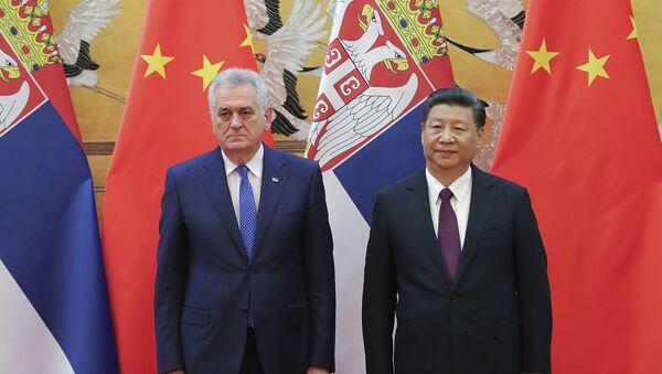 Predsednik Srbije Tomislav Nikolić i predsednik Kine Si Đinping tokom ceremonije u Pekingu - Sputnik Srbija