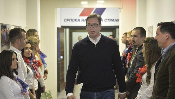 Predsednički kandidat Aleksandar Vučić - Sputnik Srbija