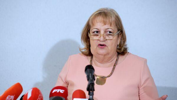 Функционерка СРС Вјерица Радета говори на конференцији за новинаре у штабу странке - Sputnik Србија