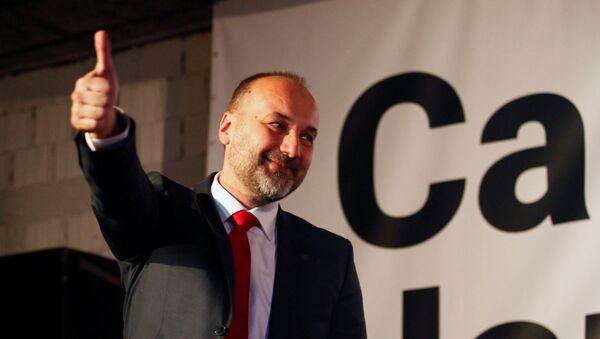 Predsednički kandidat Saša Janković na konferenciji za novinare u svom predizbornom štabu - Sputnik Srbija
