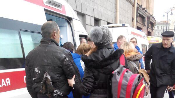 Posledice eksplozije u  Sankt Peterburgu, Rusija - Sputnik Srbija