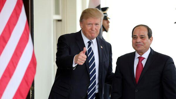 Predsednik SAD Donald Tramp i predsednik Egipta Abdel Fatah el Sisi - Sputnik Srbija