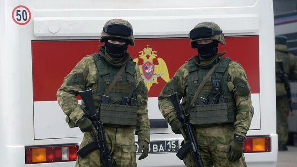 Pripadnici ruske nacionalne garde na vežbi - Sputnik Srbija