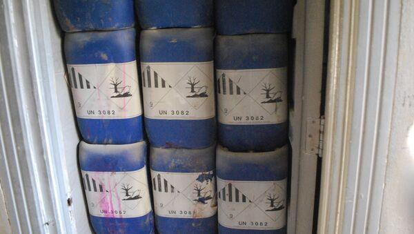 Канистери пронађени у фабрици за хемијско оружје у Алепу - Sputnik Србија
