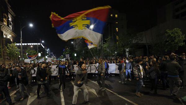 Protesti studenata u Beogradu 04.04.2017. god. - Sputnik Srbija