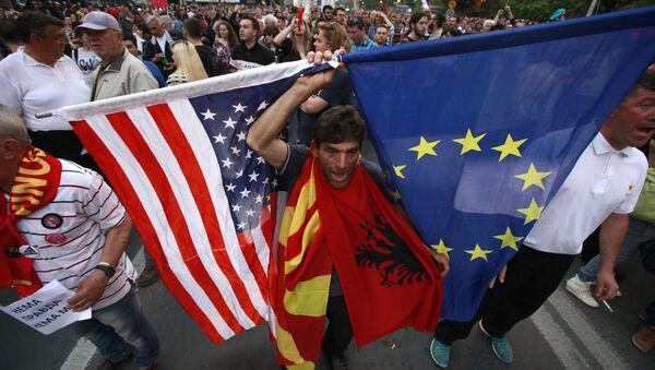 Protesti u Skoplju, Makedonija - arhivska fotografija - Sputnik Srbija
